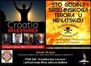 "Perth - Croatia Uncensored tour and ""100 Years of Serbian terror in Croatia"" screening @ North Fremantle Croatian Community Centre"