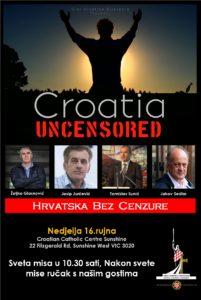 Croatian Catholic Centre Sunshine VIC- Croatia Uncensored Tour @ Croatian Catholic Centre Sunshine